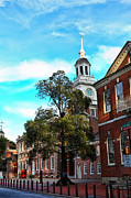 Independence Hall Posters - Pennsylvania - Independence Hall Poster by Lee Dos Santos