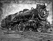 Boiler Photos - Pennsylvania Railroad Locomotive No. 3863 by Daniel Hagerman