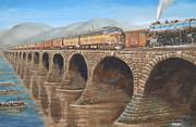 Pennsylvania Railroad On The Rockville Bridge Print by Christopher Jenkins