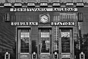 Phila Framed Prints - Pennsylvania Railroad Suburban Station BW Framed Print by Susan Candelario