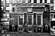 Pennsylvania Framed Prints - Pennsylvania Railroad Suburban Station in Black and White Framed Print by Bill Cannon