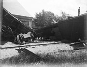 Wooden Building Originals - Pennsylvania RR Wreck by Jan Faul