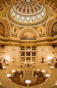 Pennsylvania State Capitol Dome And Rotunda Print by Frank Tozier