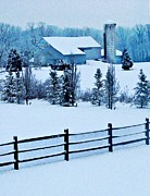 Sarah Loft Metal Prints - Pennsylvania Winter Metal Print by Sarah Loft