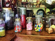 Ball Jars Posters - Penny Candies Poster by Susan Savad