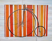 Penny Farthing Framed Prints - Penny-farthing Framed Print by Marilyn  McNish