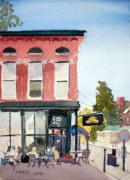 Evansville Painting Prints - Penny Lane Saturday Morning Print by Todd Derr