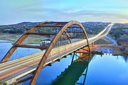Pennybacker Bridge Posters - Pennybacker Bridge Poster by Christian Carollo