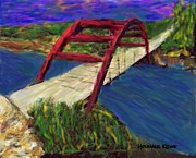 Pennybacker Bridge Posters - Pennybacker Bridge Poster by Debbie Holmans Krug