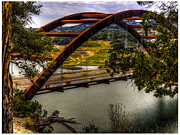 360 Bridge Framed Prints - Pennybacker Bridge Framed Print by Fred Adsit