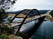 Pennybacker Bridge Posters - Pennybacker Bridge Poster by James Stough