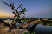 Pennybacker Bridge Prints - Pennybacker Sentry Print by Jeffrey W Spencer