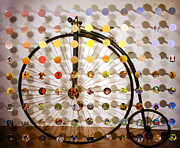 Skylines Mixed Media Acrylic Prints - PennyFarthing SunsetSegue Acrylic Print by Irmari Nacht