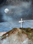 Christ Mixed Media - Pensacola Beach by the Light of the Moon by Eloise Schneider