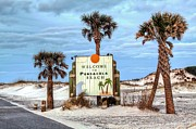 Beach Sign Framed Prints - Pensacola Beach Framed Print by JC Findley