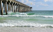 Pensacola Fishing Pier Framed Prints - Pensacola Beach Pier Framed Print by Shirlee Mikel Vos