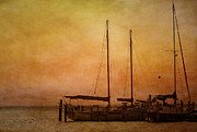Florida Sunset Framed Prints - Pensacola Harbor Framed Print by Kim Hojnacki