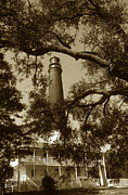 Lighthouse Artwork Posters - Pensacola Lighthouse Poster by Skip Willits
