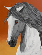 Arabian Horse Paintings - Pensador other way by Janina  Suuronen