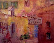 Villa Paintings - Pensione Sorriso by R W Goetting