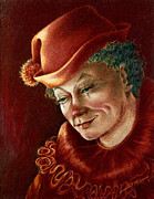 Circus Clown Posters - Pensive Clown Poster by Ethel Quelland