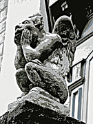 Alicegipsonphotographs Art - Pensive Gargoyle by Alice Gipson