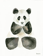 Pensive Panda Print by Kimberly Lavelle