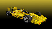 Indy Car Framed Prints - Penske Pennzoil INDY Race Car Framed Print by Tad Gage