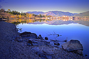 Tara Turner Framed Prints - Penticton Reflections Framed Print by Tara Turner