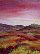 Warm Colors Paintings - Pentland Hills Scotland by Hazel Millington