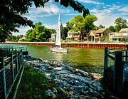 Boat Cruise Photo Posters - Pentwater Channel Michigan Poster by Nick Zelinsky