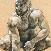 Male Nude Drawings - Penumbra 2 by Chris  Lopez