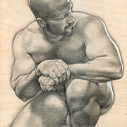 Male Nude Drawings - Penumbra 4 by Chris  Lopez
