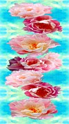 Art Mobile Digital Art - Peonies by AlyZen Moonshadow