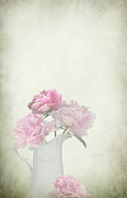 Peonies In A Jug Print by Artskratches