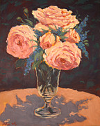 Most Popular Paintings - Peonies by Monica Caballero