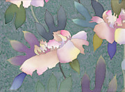 Pretty Tapestries - Textiles Metal Prints - Peony Metal Print by Yana Vergasova