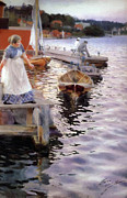 Anders Zorn - People at the Lake 1887