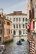 Historical Buildings Posters - People leaving for work in Venice Poster by Gabriela Insuratelu