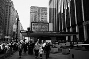 Manhatten Framed Prints - People On The Sidewalk Outside Madison Square Garden New York City Usa Framed Print by Joe Fox