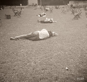 People Sleeping In The Park Print by Beverly Brown Prints