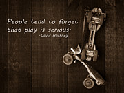 Skates Framed Prints - People tend to forget that play is serious Framed Print by Edward Fielding