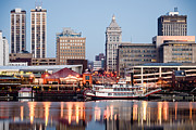 Riverboat Prints - Peoria Illinois Skyline Print by Paul Velgos