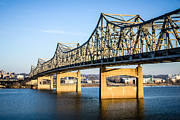 Peoria Art - Peoria Murray Baker Bridge in Illinois by Paul Velgos