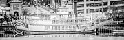 Paul Velgos - Peoria Riverboat Panoramic Black and White Photo