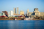 Riverboat Framed Prints - Peoria Skyline and Downtown City Buildings Framed Print by Paul Velgos