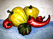 Pepper Paintings - Pepper Diversity by Rae Chichilnitsky