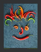 Hot Peppers Framed Prints - Pepper Person Framed Print by Patricia Overmoyer