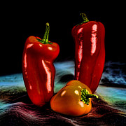 Hot Peppers Framed Prints - Pepper Pop Framed Print by John Crothers