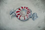Candy Paintings - Peppermint by Marisela Mungia